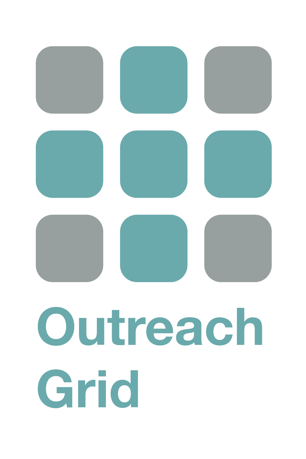 Outreach grid logo words